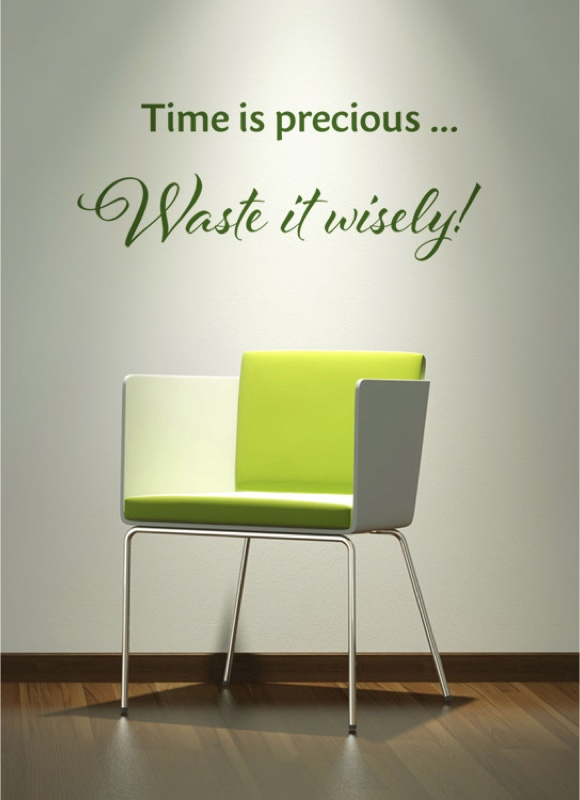 Time is precious ... Waste it wisely!