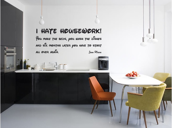 I hate housework ...