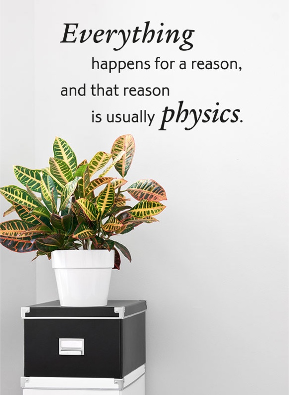 Everything happens for a reason, and that reason is usually physics.