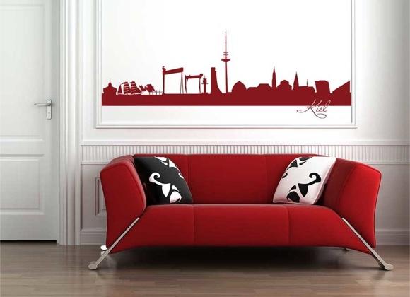 wandtattoo shop skylines. Black Bedroom Furniture Sets. Home Design Ideas